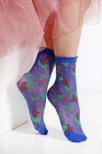 MICOL sheer blue socks for women | BestSockDrawer.com