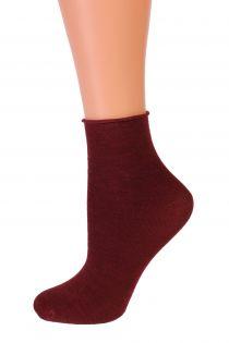 MILANA dark red merino comfort socks | BestSockDrawer.com