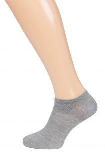 MONDI men's low-cut socks, grey colour | BestSockDrawer.com