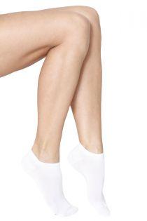MONDI women's low-cut viscose socks, white colour | BestSockDrawer.com