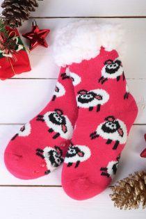 NIILO cute pink anti-slip home socks for kids | BestSockDrawer.com