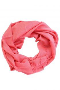 Alpaca wool and silk coral-pink shawl | BestSockDrawer.com