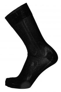 OLIVER black dress socks with purple stripe for men | BestSockDrawer.com