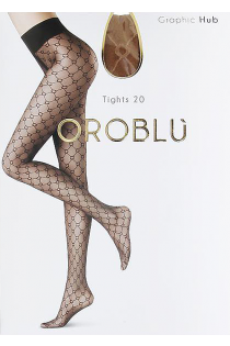 Oroblu GRAPHIC HUB 20DEN beige tights | BestSockDrawer.com