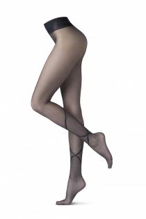 Oroblu GRAPHIC RIBBON 20DEN tights for women | BestSockDrawer.com