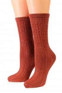Oroblu KNIT copper socks | BestSockDrawer.com