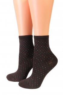 Oroblu POWDER brown socks | BestSockDrawer.com