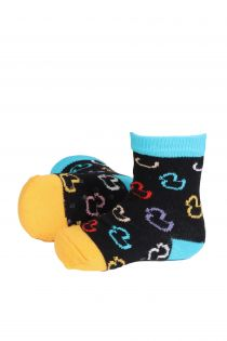 PARDIRALLI black baby socks with anti-slip soles | BestSockDrawer.com