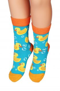 PARDIRALLI blue and orange cotton socks for children | BestSockDrawer.com