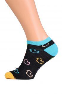 PARDIRALLI black low-cut cotton socks | BestSockDrawer.com