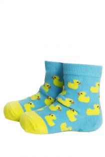 PARDIRALLI light blue baby socks with anti-slip soles | BestSockDrawer.com