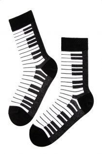 PIANO black cotton socks for men | BestSockDrawer.com