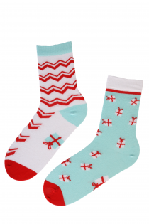 JOY cotton socks with stripes and gift-boxes | BestSockDrawer.com