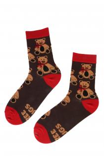 FREE HUGS socks with bear pattern | BestSockDrawer.com