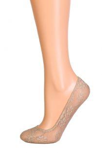 PIZZO beige lace footies | BestSockDrawer.com