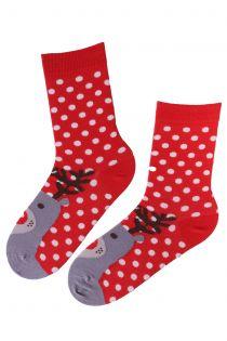 EDA cotton socks with reindeers | BestSockDrawer.com