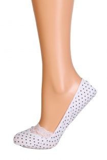 POIS white footies with dots | BestSockDrawer.com