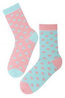 POWDER cotton socks with hearts | BestSockDrawer.com