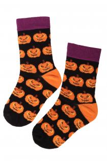 PUMPKIN cotton socks with pumpkins for kids | BestSockDrawer.com