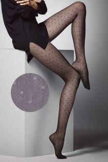 PUNTINI 20DEN grey dotted tights | BestSockDrawer.com