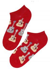 PUREJOY men's low-cut red guitar socks | BestSockDrawer.com