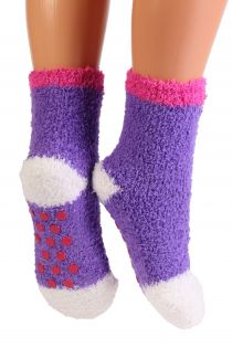 RONJA cozy lilac home socks for kids | BestSockDrawer.com