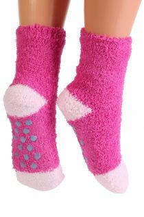 RONJA cozy pink home socks for kids | BestSockDrawer.com