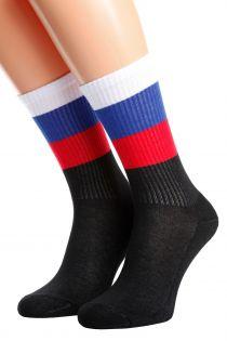RUSSIA flag socks for men and women | BestSockDrawer.com