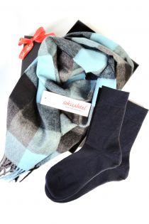 Alpaca wool scarf and ROGER socks gift box for men   BestSockDrawer.com