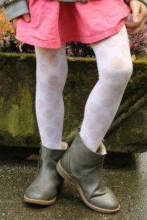 SABINA creamy white tights for kids | BestSockDrawer.com