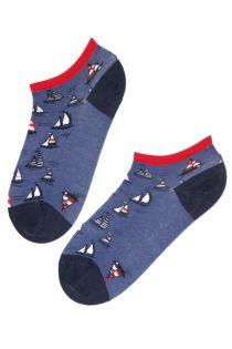 SAILING women's low-cut blue socks | BestSockDrawer.com