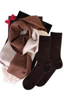 Alpaca wool two sided scarf and VEIKO socks gift box for men | BestSockDrawer.com