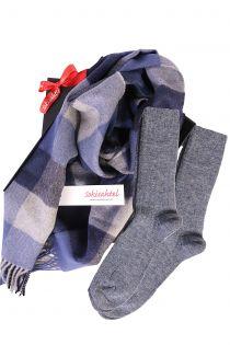 Alpaca wool scarf and ALPAKA socks gift box for men   BestSockDrawer.com