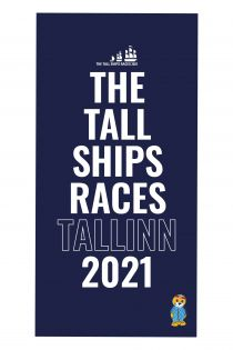 THE TALL SHIPS RACES 2021 blue microfiber towel | BestSockDrawer.com