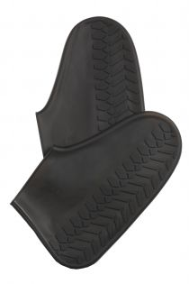 Black waterproof shoe protectors   BestSockDrawer.com