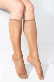 SMART TIGHTS beige 30 DEN quickly biodegrading knee-highs | BestSockDrawer.com