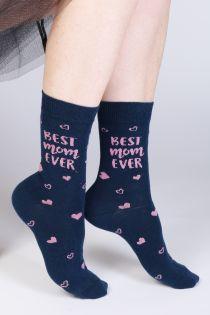BEST MOM EVER Mother's Day cotton socks | BestSockDrawer.com