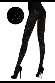 MACULATO black cheetah pattern tights | BestSockDrawer.com