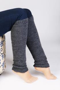 PREMIA grey leg warmers | BestSockDrawer.com