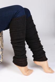 PREMIA dark brown leg warmers | BestSockDrawer.com