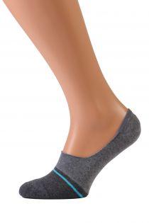 VALERI grey no show socks for men | BestSockDrawer.com
