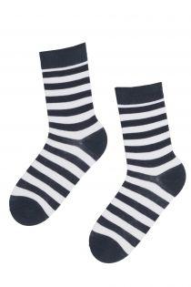 STRIPE grey striped cotton socks | BestSockDrawer.com