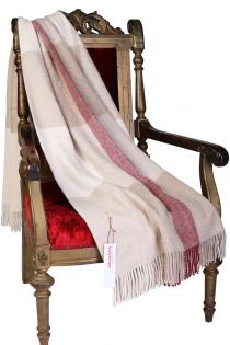 Alpaca wool pink and beige checked plaid | BestSockDrawer.com
