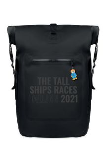 THE TALL SHIPS RACES 2021 backpack with black text | BestSockDrawer.com