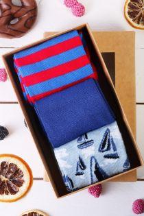 SAILING gift box for men with 3 pairs of socks | BestSockDrawer.com