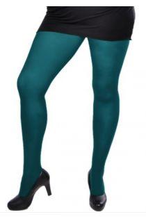 PLUS 60 women's teal microfiber tights | BestSockDrawer.com