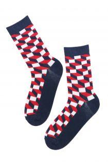 TORONTO diamond patterned cotton socks for women | BestSockDrawer.com