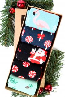 JOY Christmas gift box with 5 pairs of socks   BestSockDrawer.com