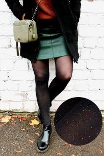 CAREN black sparkling tights | BestSockDrawer.com