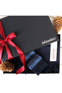 Alpaca wool scarf and STEFAN socks gift box for men   BestSockDrawer.com
